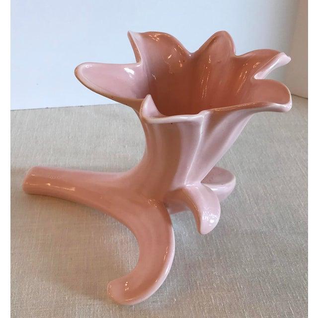 Mid-Century Pink Ceramic Tulip Vase For Sale - Image 4 of 11
