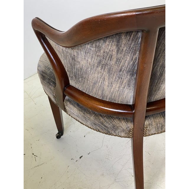 Art Deco Armchair of Mahogany, Circa 1940s For Sale - Image 11 of 13