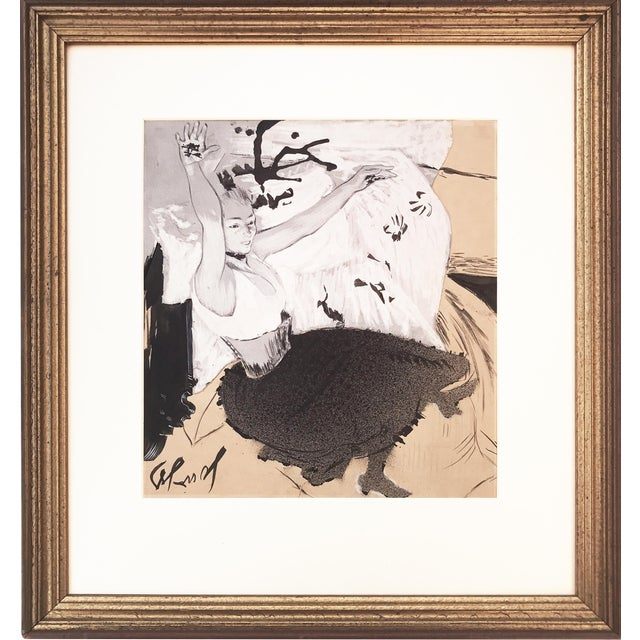 Image of Gouache of French Art Nouveau Dancer by Louis Legrand