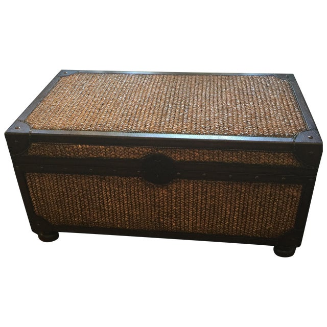 Tommy Bahama Woven Trunk Table Chairish - Woven trunk coffee table