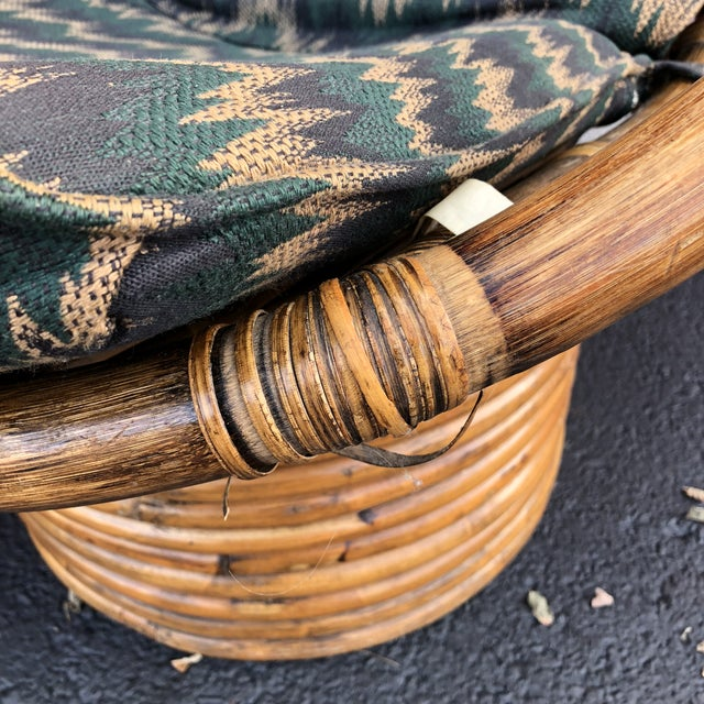 1960s Anglo-Indian Rattan Swivel Lounge Chairs - a Pair For Sale - Image 9 of 13