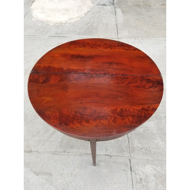 Rosewood Antique Rosewood Hepplewhite Card Table For Sale - Image 7 of 13