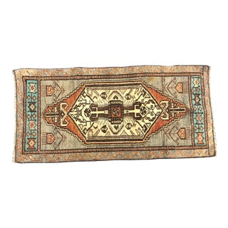 Antique Turkish Handmade Decorative Gay and Beige Rug For Sale