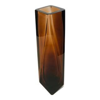 Alessandro Mandruzzato Goccia Murano Amber Vase For Sale