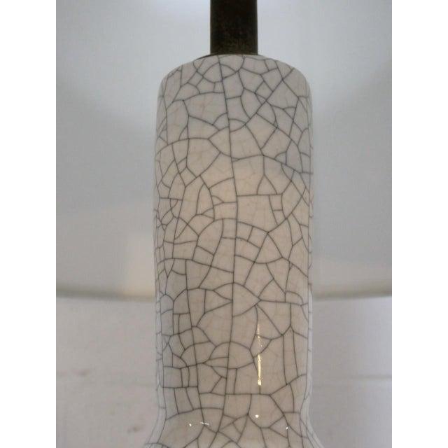 Mid-Century Modern Paul Laszlo Crackle Glazed Lamp For Sale - Image 3 of 8