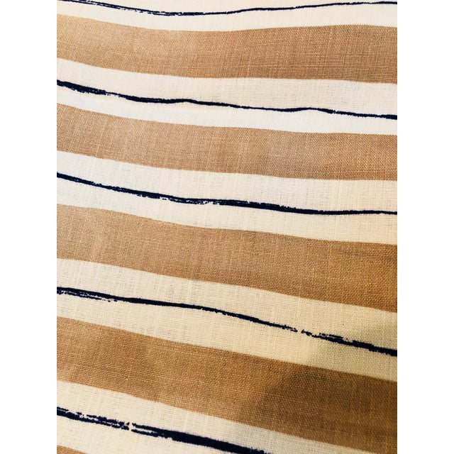 Rebecca Atwood Painterly Stripe Fabric For Sale In New York - Image 6 of 7