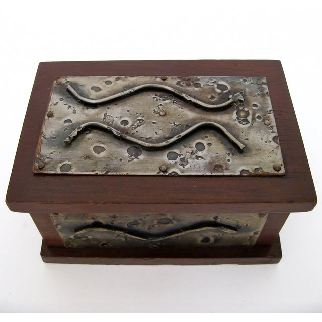 Hand-Crafted Wood & Metal Box - Image 3 of 6