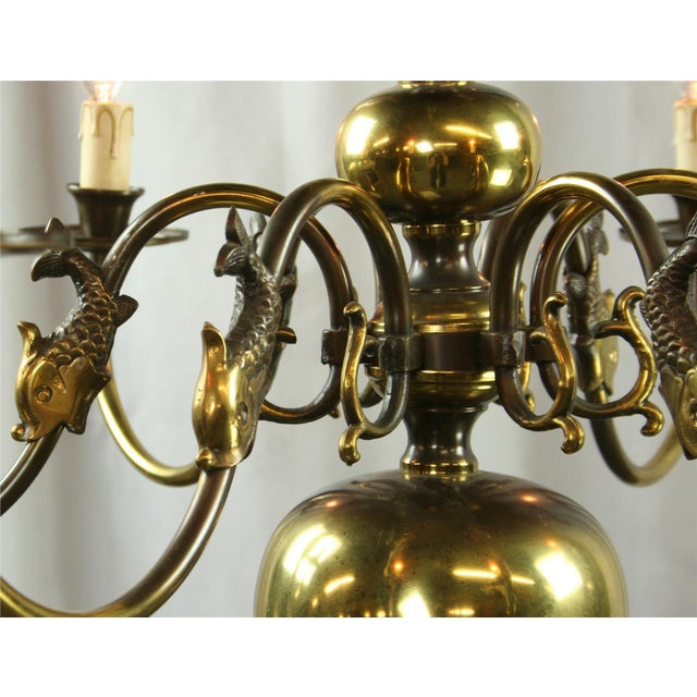 Vintage Flemish Mermaid Chandelier 1950 Belgium For Sale - Image 5 of 5