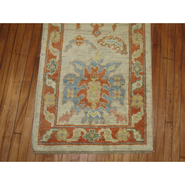 Vintage Turkish Oushak Runner - 2'9'' X 13'5'' - Image 5 of 6