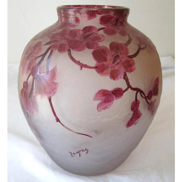 Antique Legras Frosted Cameo Glass Vase For Sale In Los Angeles - Image 6 of 6