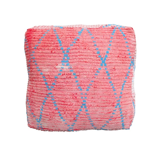 Vintage Moroccan Pink Floor Pillow - Image 1 of 3