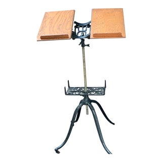 Antique Adjustable Book Stand For Sale