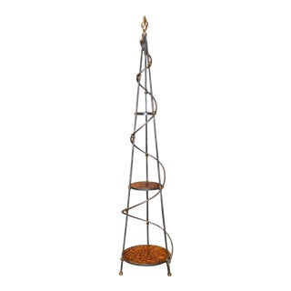 LaBarge 3 Tier Pewter Finished Etagere