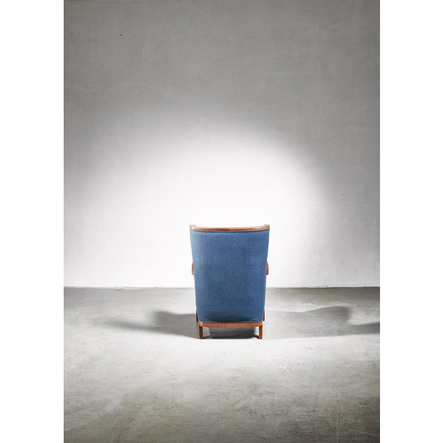 Frits Henningsen Wingback Chair, Denmark, 1940s For Sale - Image 6 of 7