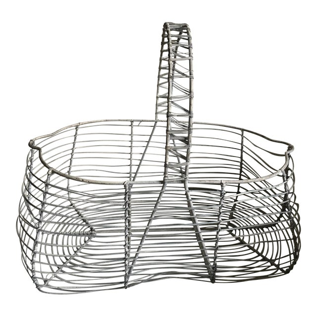 Antique French Wire Basket For Sale