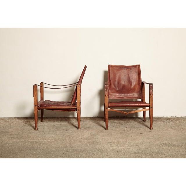 Kaare Klint Safari Chairs and Footstools, Rud Rasmussen, Denmark, 1950s For Sale - Image 10 of 11