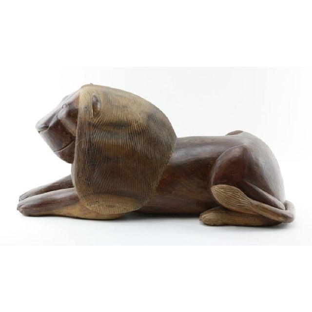 Jacaranda Wood Studio Lion Sculpture - Image 5 of 5