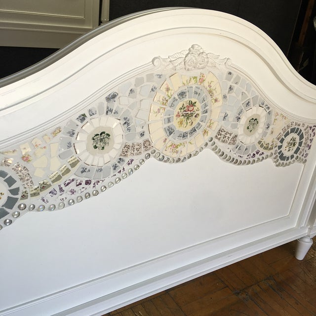 Stanley Furniture Queen Bed with Mosaic Tiling - Image 5 of 9
