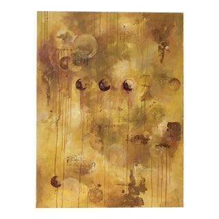 Untitled Abstract Mixed-Media Painting For Sale