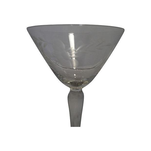 Etched Glass Martini Set - Set of 11 - Image 5 of 6