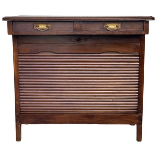 Art Decò Lady Desk With Hidden Roll - Low Compartment and Two Drawers For Sale