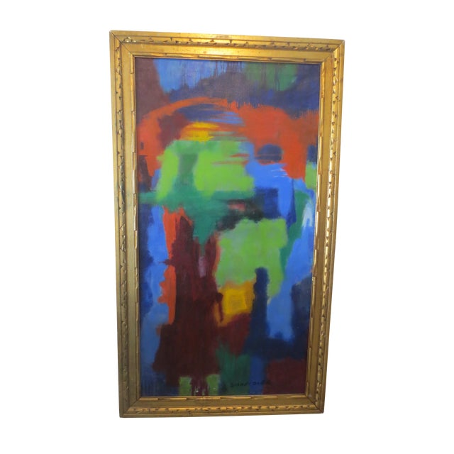 Large Colorful Abstract by Blanche Schmiedler - Image 1 of 3