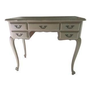 Vintage Wood Blush Vanity with Mirror