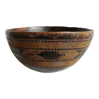 Old Nigerian Fulani Wood Bowl For Sale