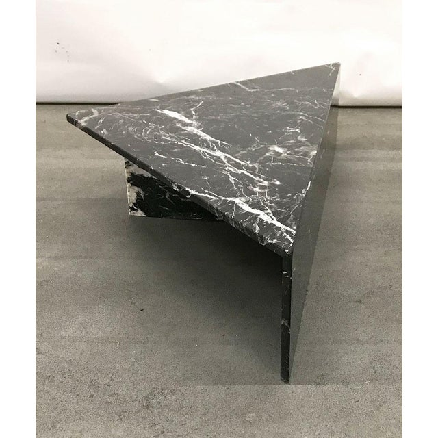 1970s Black Marble Triangular Coffee Table For Sale In Atlanta - Image 6 of 13