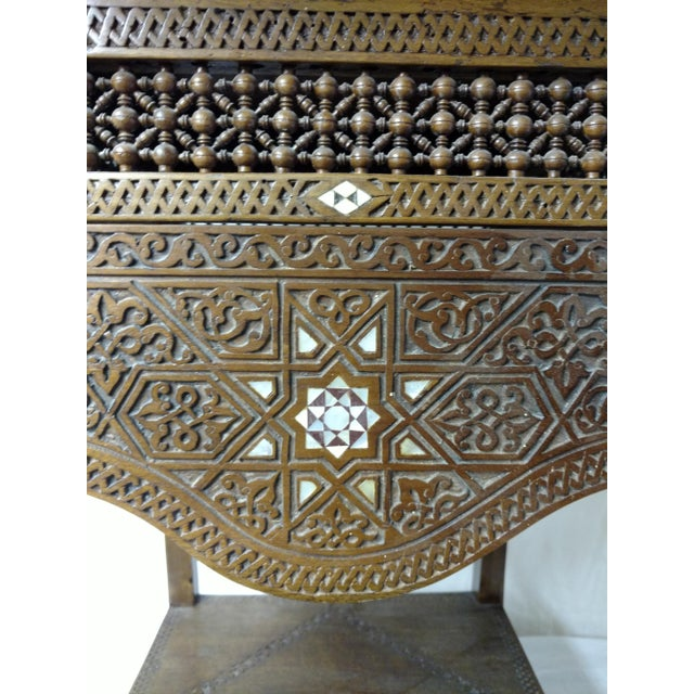 19th century antique Anglo Indian inlaid tea table from Sri Lanka /Ceylon. This pretty table is in amazing condition being...