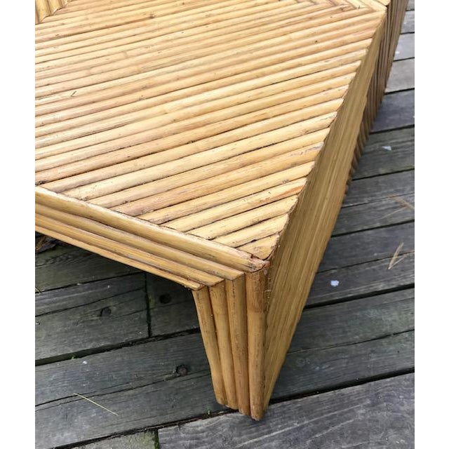Vintage Split Bamboo Waterfall Coffee Table For Sale In Boston - Image 6 of 11