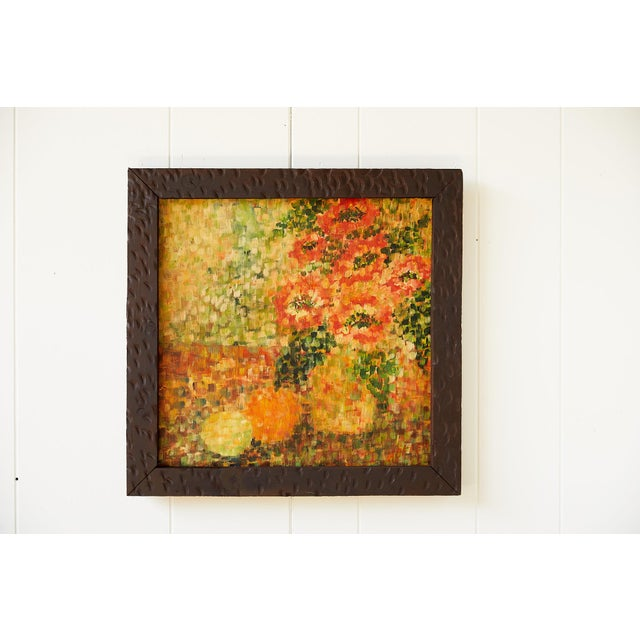 Cheerful Post Impressionist Still Life of Flowers and Fruit For Sale - Image 9 of 9