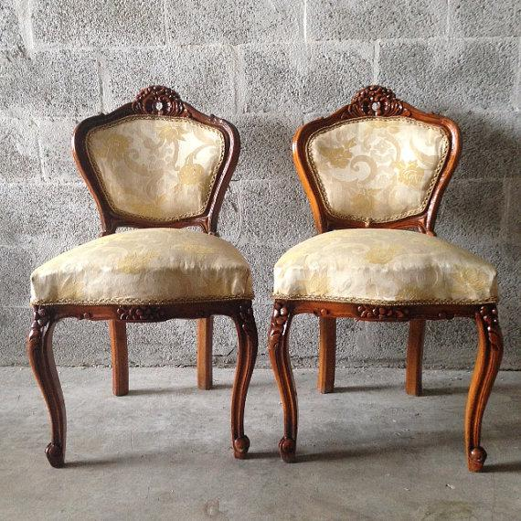 French Louis XVI Style Chairs - a Pair For Sale In Miami - Image 6 of 8
