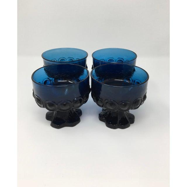 Glass Franciscan Madeira Dark Blue Dessert & Berry Bowls--Set of 4 For Sale - Image 7 of 9