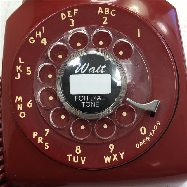 Red Western Electric Red Rotary Dial Telephone For Sale - Image 8 of 11