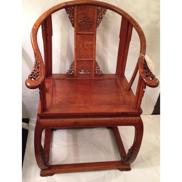19th Century Hardwood Horseshoe Chairs - A Pair - Image 7 of 7