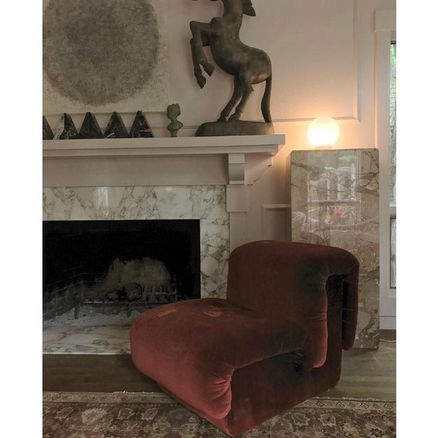 Modern 1980s Custom Vintage Monumental Marble Pedestal Lamps - a Pair For Sale - Image 3 of 11