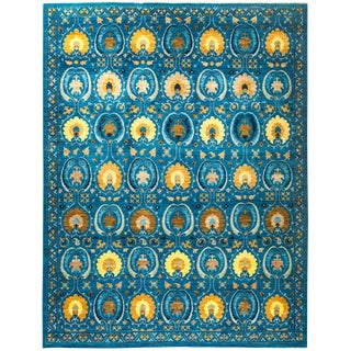 """Suzani Hand Knotted Area Rug - 9'1"""" x 11'10"""""""