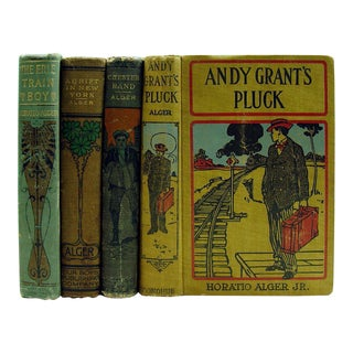 Adventures by Horatio Alger, 1910 - Set of 4 For Sale