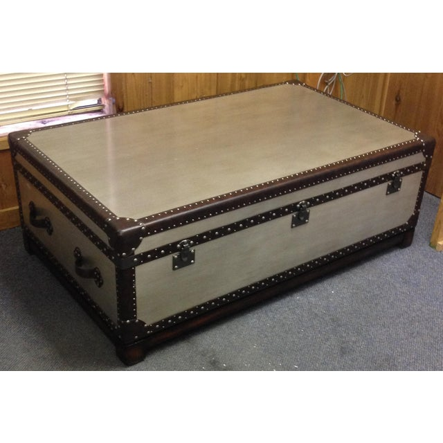 Silver Leaf Hardwood Trunk Style Table - Image 2 of 5