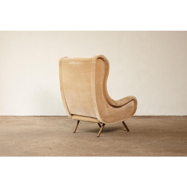 Brass 1960s Mid-Century Modern Marco Zanuso for Arflex Senior Chair For Sale - Image 7 of 12