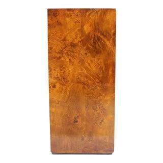Mid-Century Modern Burl Wood Pedestal For Sale