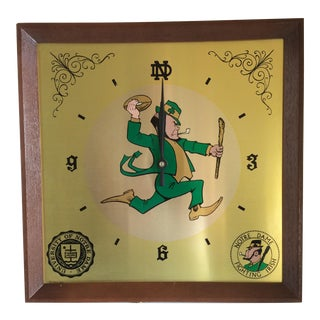 Notre Dame Fighting Irish Wall Clock - 1971