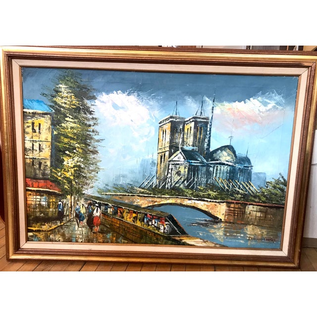 This is an oil on canvas painting in the style of famous Parisian post-impressionist painter Edouard Cortes. It depicts a...