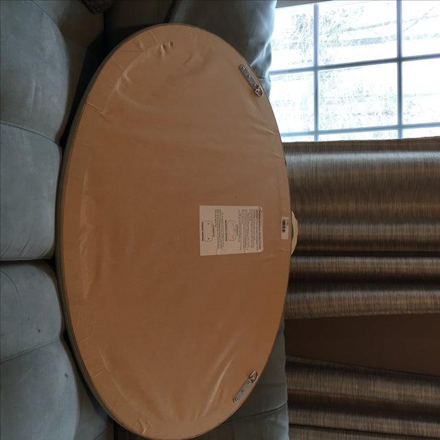 Ethan Allen Swedish Design Ethan Allen Beveled Oval Mirror For Sale - Image 4 of 5