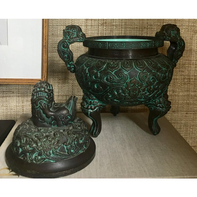 Midcentury James Mont Style Asian Style Greek Key Ice Bucket Urn For Sale - Image 12 of 13
