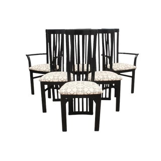 Modern Italian Slat Back Dining Chairs - Set of 6 For Sale
