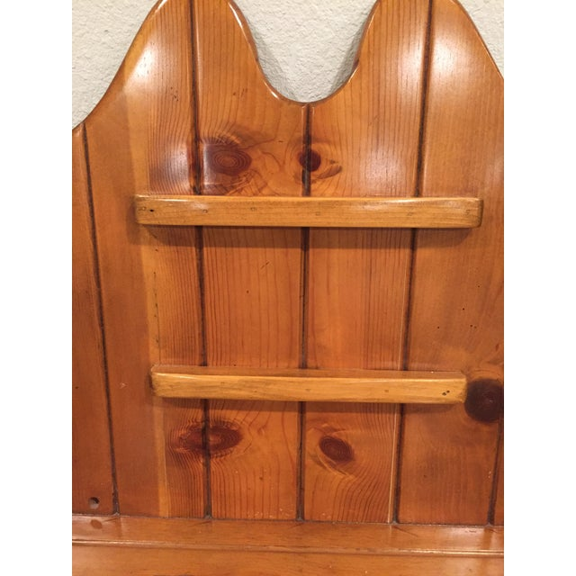 1950s Early American Pine Shelf Unit Telephone For Sale - Image 11 of 13