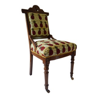 19th Century Victorian Walnut Upholstered Chair
