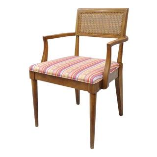 Vintage Mid-Century Modern Paul McCobb Style Walnut Cane Back Dining Armchair Chair